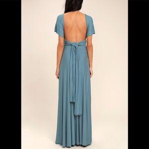Infinity Strap Maxi Dress
